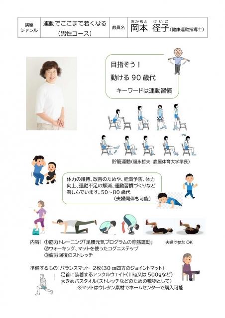 エンジョイ ウォーキング(男性コース)