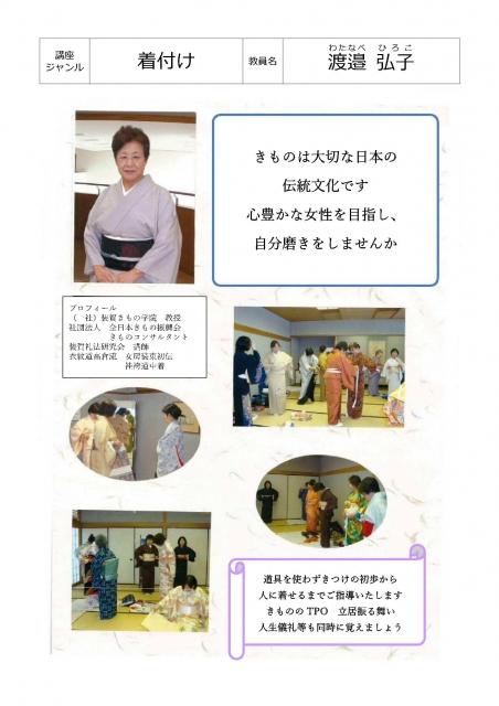 着物のきつけ 初級(1)